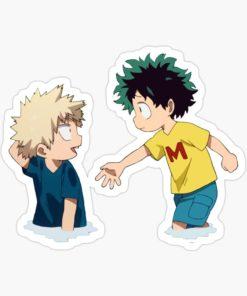 Cute Bakugou and Deku sticker