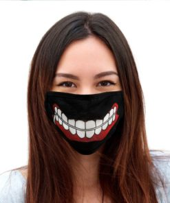 Bioworld Tokyo Ghoul Smile Adjustable Face Mask Face Cover Reusable Washable